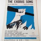 THE EXODUS SONG Piano/Vocal Sheet Music OTTO PREMINGER FILM © 1961