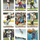 SI SPORTS ILLUSTRATED FOR KIDS Sheet of 9 Trading Cards #1 to #9 CHRIS PAUL
