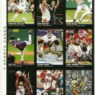 SI SPORTS ILLUSTRATED FOR KIDS Sheet of 9 Trading Cards #37 to #45 CHONE FIGGINS