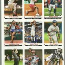 SI SPORTS ILLUSTRATED FOR KIDS Sheet of 9 Trading Cards #55 to #63 JASON TERRY