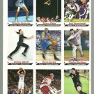 SI SPORTS ILLUSTRATED FOR KIDS Sheet of 9 Trading Cards #118-126 SHAUN WHITE