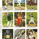 SI SPORTS ILLUSTRATED FOR KIDS Sheet of 9 Trading Cards #118-126 FUTURE STARS