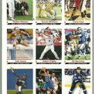 SI SPORTS ILLUSTRATED FOR KIDS Sheet of 9 Trading Cards #136-144 ELI MANNING