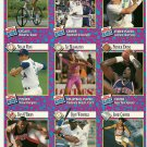 SI SPORTS ILLUSTRATED FOR KIDS Sheet of 9 Trading Cards #163-171 NOLAN RYAN