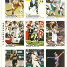 SI SPORTS ILLUSTRATED FOR KIDS Sheet of 9 Trading Cards #199-207 TYSON GAY