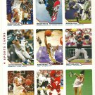 SI SPORTS ILLUSTRATED FOR KIDS Sheet of 9 Trading Cards #208-216 KOBE BRYANT