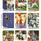SI SPORTS ILLUSTRATED FOR KIDS Sheet of 9 Trading Cards #226-234 YAO MING