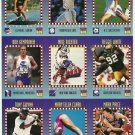 SI SPORTS ILLUSTRATED FOR KIDS Sheet of 9 Trading Cards #280-288 BRANDI HUNT
