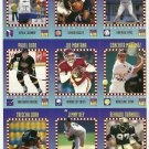 SI SPORTS ILLUSTRATED FOR KIDS Sheet of 9 Trading Cards #298-306 PAVEL BURE