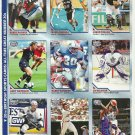 SI SPORTS ILLUSTRATED FOR KIDS Sheet of 9 Trading Cards #334-342 BARRY SANDERS