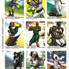 SI SPORTS ILLUSTRATED FOR KIDS Sheet of 9 Trading Cards #343-351 SUPERHEROES