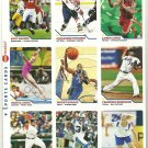 SI SPORTS ILLUSTRATED FOR KIDS Sheet 9 Trading Cards #379-387 LEBRON JAMES