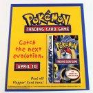 POKÉMON TCG Gameboy Color Peel Off Flapper Card © 2000