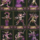 WRATH UNLEASHED DARK CHAOS Perforated Panel of 9 Trading Cards © 2003