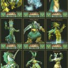 WRATH UNLEASHED LIGHT ORDER Perforated Panel of 9 Trading Cards © 2003