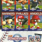 MLB POWER PROS Perforated Panel of 6 Advertisement Trading Cards © 2007 #2