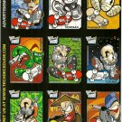 TECH DECK DUDE Perforated Panel of 9 Advertisement Trading Cards © 2001