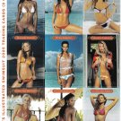 SPORTS ILLUSTRATED SWIMSUIT 2005 Perforated Panel of 9 Trading Cards (9 of 18)