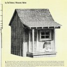 Plans for G-SCALE LOBSTERMAN'S SHANTY by Ted Stinson Plan Set #49