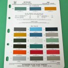 1963 WILLYS / STUDEBAKER Original Pittsburgh Ditzler 2-Sided Paint Chips Chart