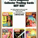 FATE MAGAZINE Collector Trading Cards - 5 Card Perforated Sheet #6 1996 - UNCUT