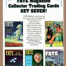 FATE MAGAZINE Collector Trading Cards - 5 Card Perforated Sheet #7 1997 - UNCUT
