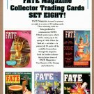 FATE MAGAZINE Collector Trading Cards - 5 Card Perforated Sheet #8 1997 - UNCUT
