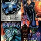 Tekno Comix LOST UNIVERSE Primortals MR HERO Block of 4 Promo Cards 1990s