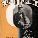 ANTHONY GUERRERA CELLO METHOD Music Instruction Book #1 © 1936