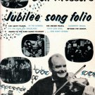 DON MESSER'S JUBILEE SONG FOLIO - Piano Vocal Guitar Song Book 29 Songs © 1960