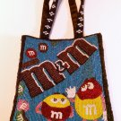 Beautiful & Colorful M&M's Vintage Beaded Purse / Handbag. NEVER USED!