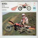 ATLAS EDITIONS MOTORCYCLE COLLECTOR CARDS Sealed Pack of 20 Cards © 1992 #1