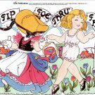 TIP TOE THRU' THE TULIPS Magazine Paper Dolls by Larry Bassin © 2011 - 2 PAGES