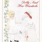 DOLLY AND HER WARDROBE Magazine Paper Dolls by Lauren Welker 1993 - 2 PAGES