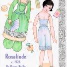 ROSALINDE c. 1924 Magazine Paper Dolls by Karen Reilly - 2-PAGES UNCUT!