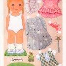 SONIA Magazine Paper Dolls by Guido Odin © 2003 UNCUT!
