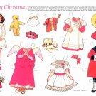 MARY CHRISTMAS Magazine Paper Dolls by Theresa Borelli © 1991 UNCUT!