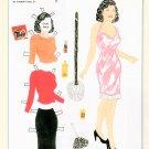 BEAUTIFUL BESSIE Magazine Paper Dolls by Joseph Urso Jr. 2-PAGES UNCUT!