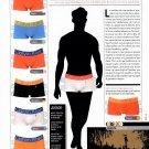 CALVIN KLEIN MEN'S UNDERWEAR Magazine Advertisement Paper Doll from Spain UNCUT!