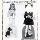TOM TIERNEY Creator of Celebrity Paper Dolls - 10-Page Article -12 Paper Dolls