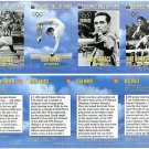 SI SPORTS ILLUSTRATED FOR KIDS Sheet 4 Trading Cards OLYMPIC HALL OF FAME #13-16