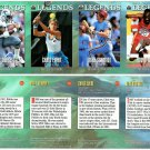 SI SPORTS ILLUSTRATED FOR KIDS Sheet 4 Trading Cards LEGENDS #65 to #68