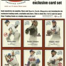 THE FLEER SPORTS CARDS EXCLUSIVE CARD SET Card Sheet of 6 Cards #4 © 2000 UNCUT!