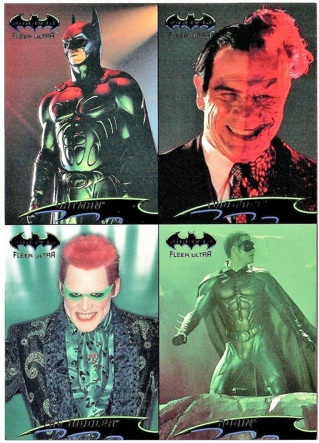 Fleer Ultra BATMAN FOREVER Promo Trading Cards © 1995