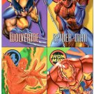 Fleer/SkyBox 4 Card Promo Sheet WOLVERINE Spider-Man HUMAN TORCH Iron Man © 1996