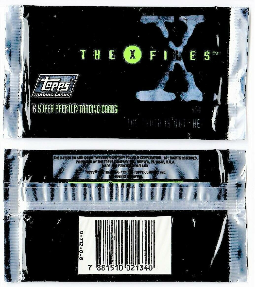 THE X FILES Series One Topps Super Premium Trading Cards Pack of 6 Cards SEALED!