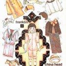 FRANKLIN CHINA HEAD BOY Magazine Paper Dolls © 1991 UNCUT!
