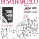 I LEFT MY HEART IN SAN FRANCISCO Sheet Music TONY BENNETT COVER © 1954