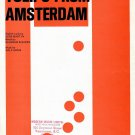 TULIPS FROM AMSTERDAM Piano Vocal Sheet Music © 1956