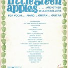 LITTLE GREEN APPLES AND OTHER MILLION-SELLERS Song Book Vocal Piano Organ Guitar